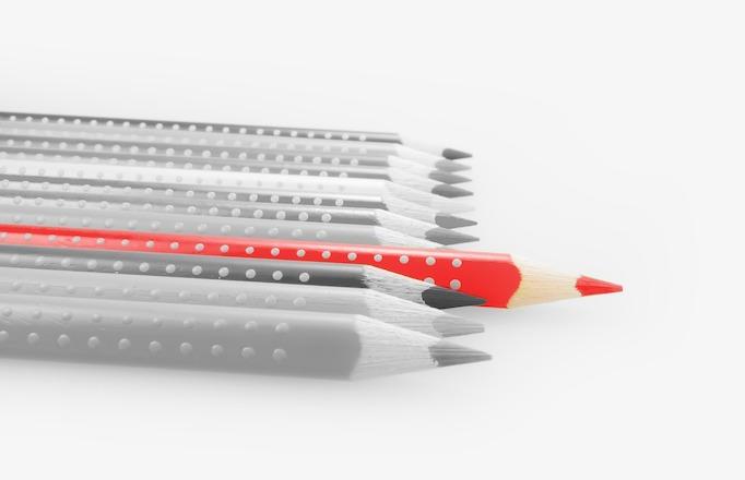 色鉛筆色違い